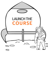 launch the course button