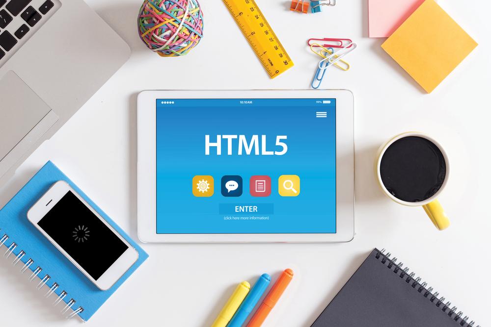 HTML5 tablet on desk
