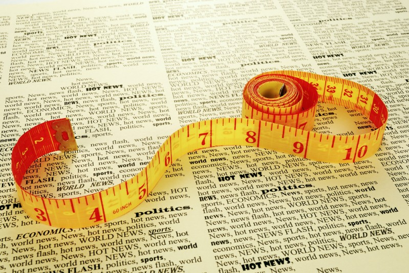 tape measure on a dictionary