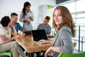 Group of millenials in office setting