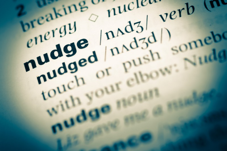 Nudge definition in the dictionary