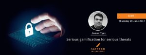 Advert for gamification seminar by James Tyas