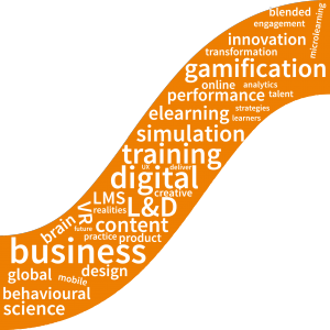 Learning technologies Sumemr Forum word cloud gamification behavioural science simulation