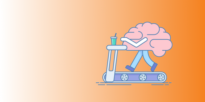 A brain on a treadmill performing healthy learning