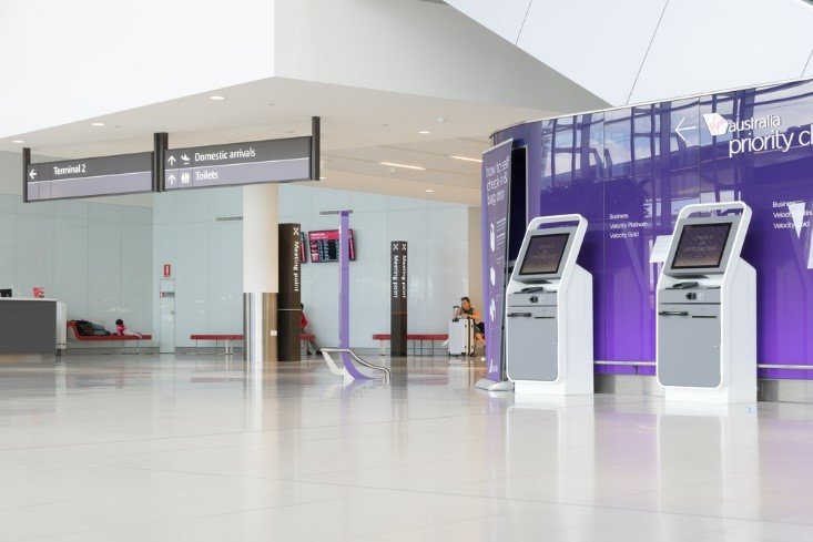 Technology touch points in Perth airport, Australia