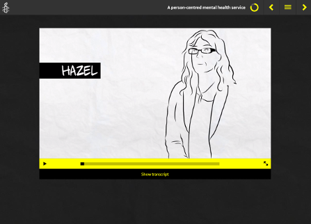 Screenshot from Amnesty International Course showing line drawing of figure