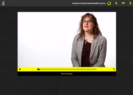 Screenshot from Amnesty International Course showing line drawing made into figure