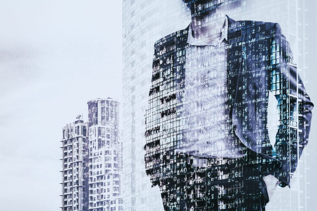 Man standing on a building looking into the future representing disruptive HR