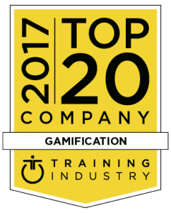 Seal from Training Industry to recognise saffron Interactive as a global top 20 gamification company