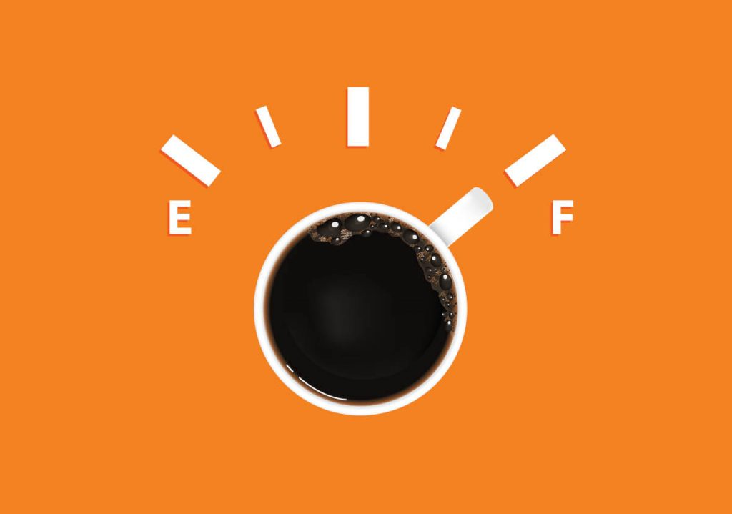 Coffee cup as a speedometer