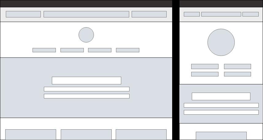 Desktop and mobile wireframes sample