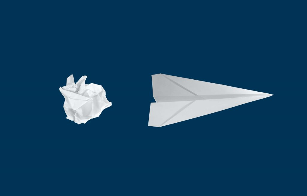 paper aeroplane representing creativity and a culture of innovation