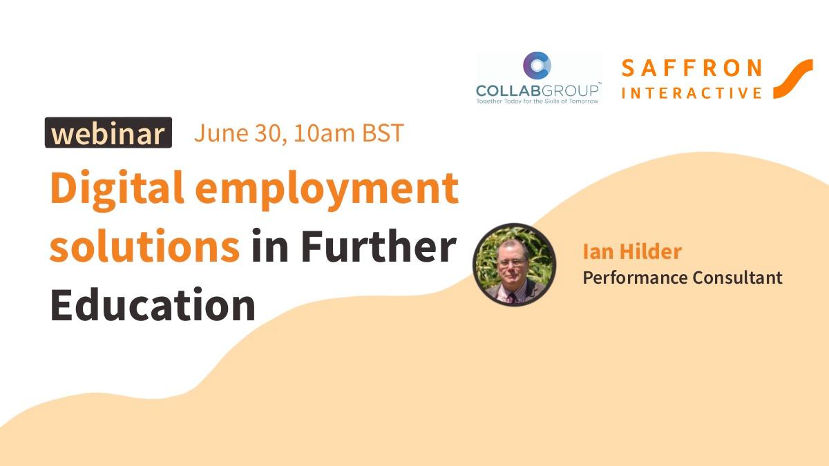 Digital employment solutions in Further Education webinar banner